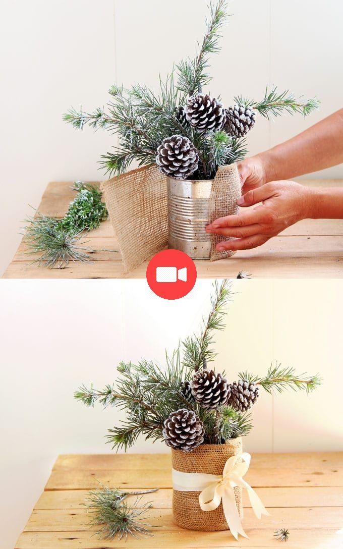 Décoration de table bricolage hiver et Noël enneigé {en 20 minutes!} - One Piece