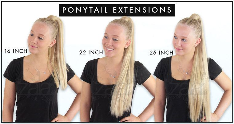 Ponytail Hair Extensions Length Guide Front Hair Extensions