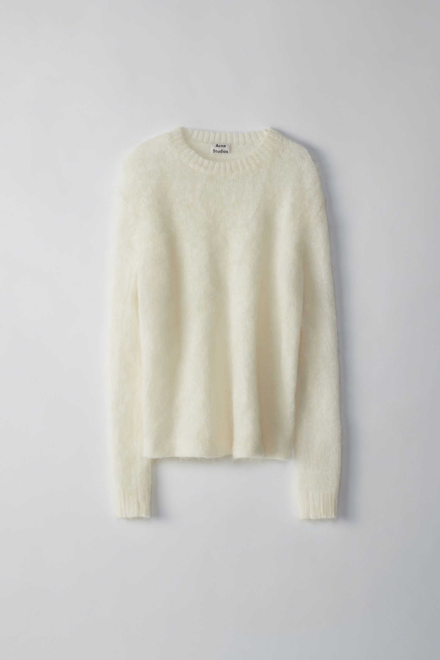 a648597553 Acne Studios - Maxhi Mohair off white relaxed fit sweater