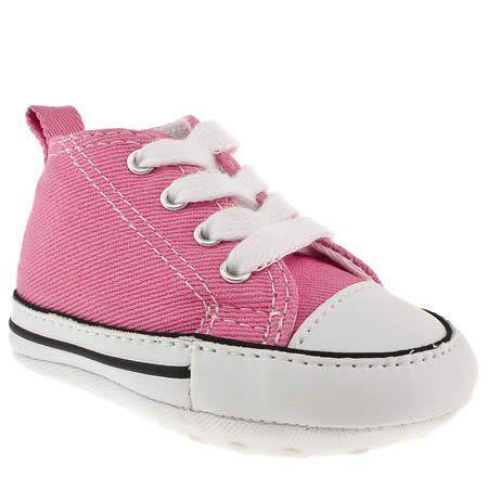 Girls pink converse, Kid shoes, Pink