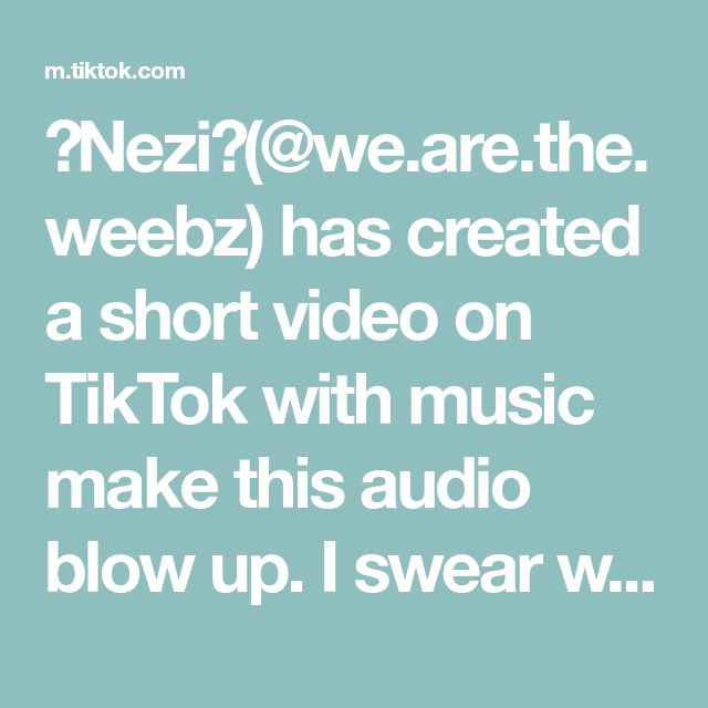 Nezi We Are The Weebz Has Created A Short Video On Tiktok With Music Make This Audio Blow Up I Swear We Re Getting Marrie Daddy Issues How To Make Haikyuu