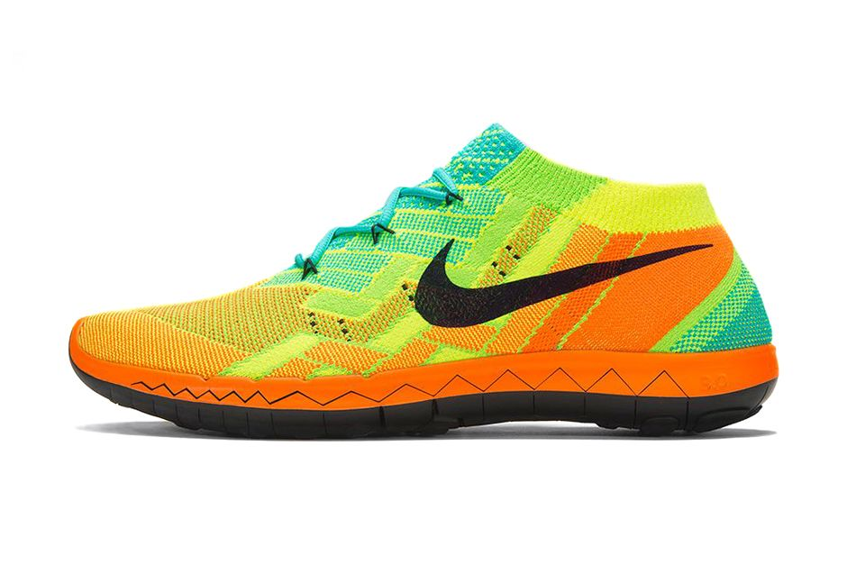 dc760807d355 The line consists of Nike s exuberantly colored Free 3.0 Flyknit sneakers