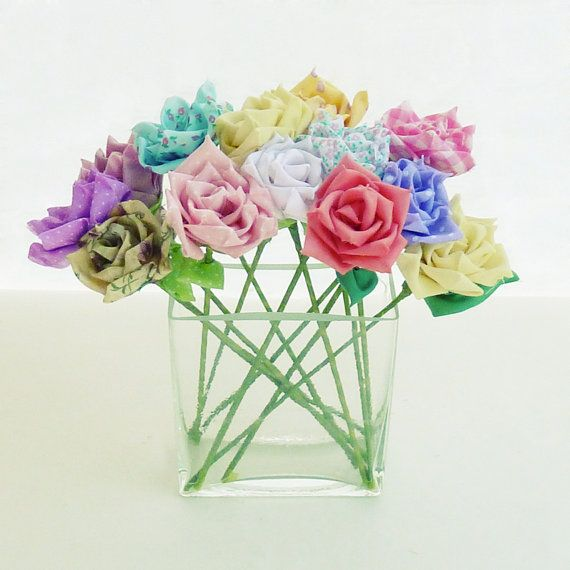 Fabric Flower Wedding Bouquet Tutorial: Fabric/ribbon And No-sew! PDF Booklet With Real Size