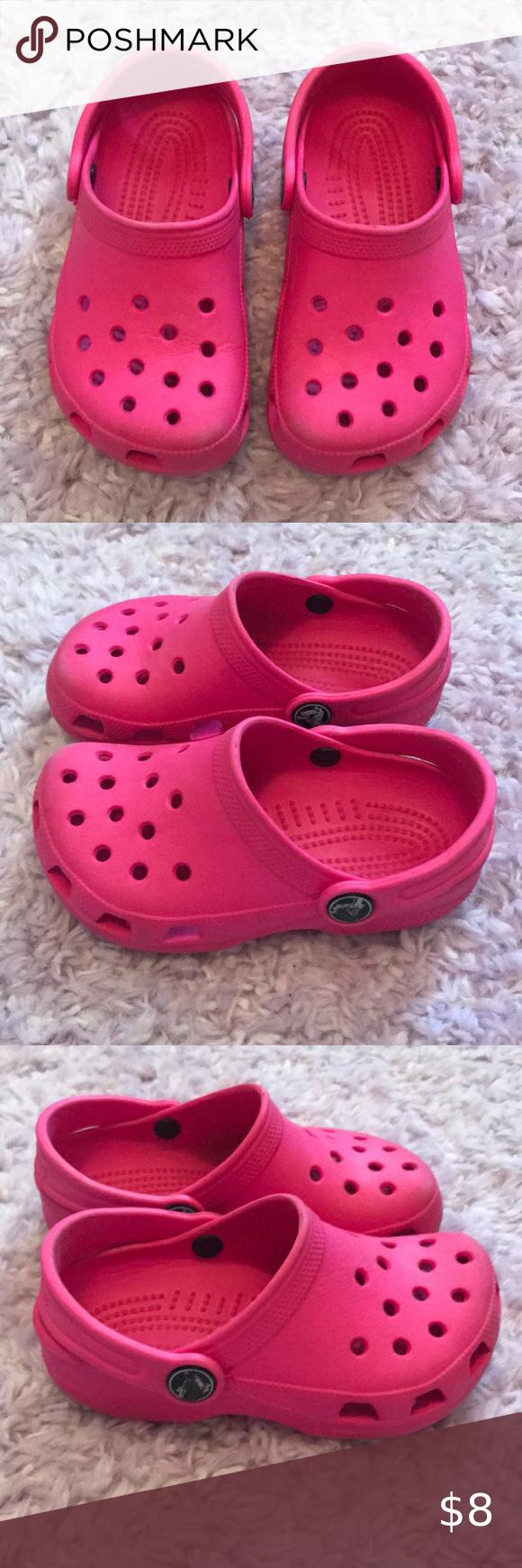 Toddler Girl Clog Pink Crocs Size 8/9