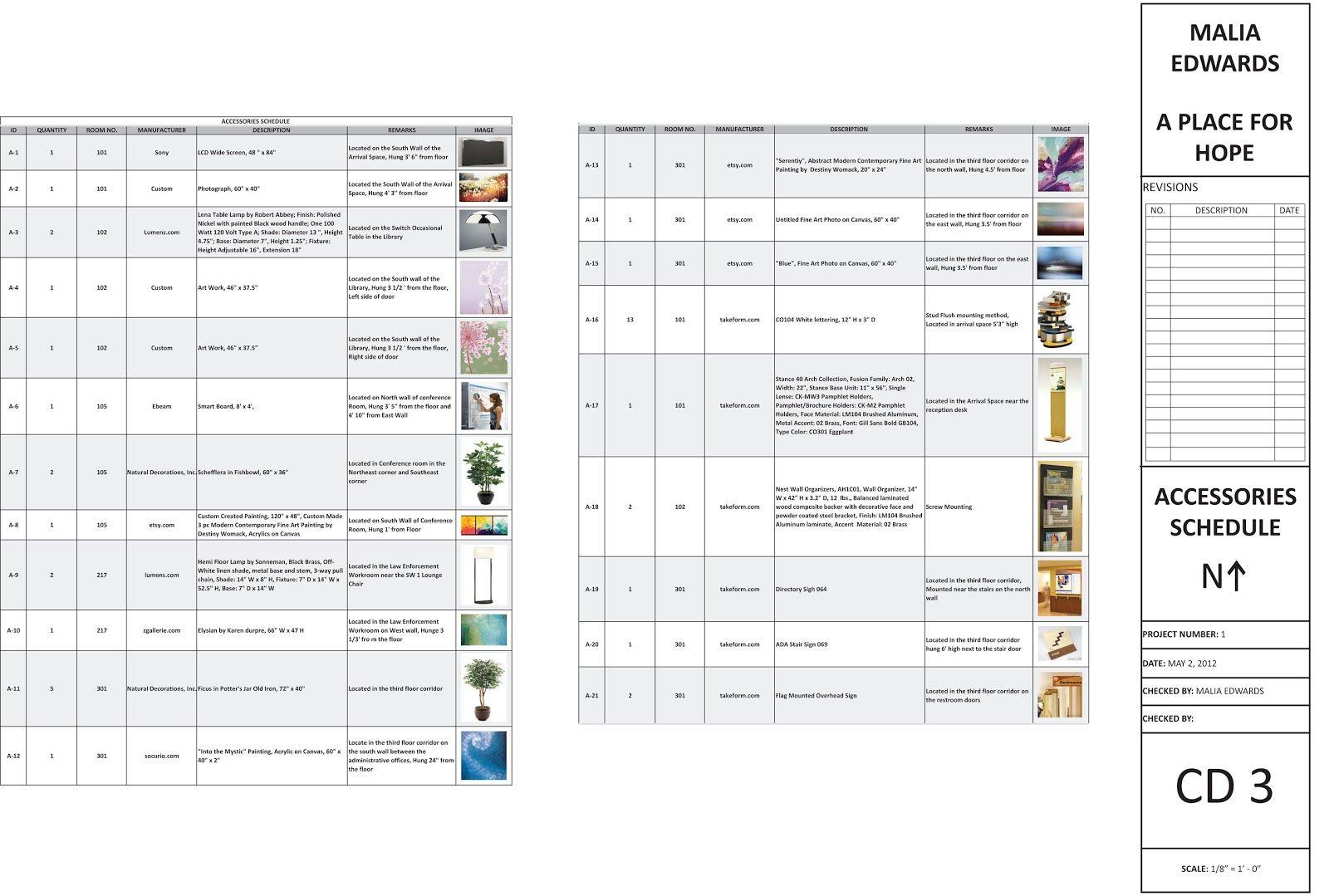 Interior Finish Schedule Template Work Stuff Pinterest