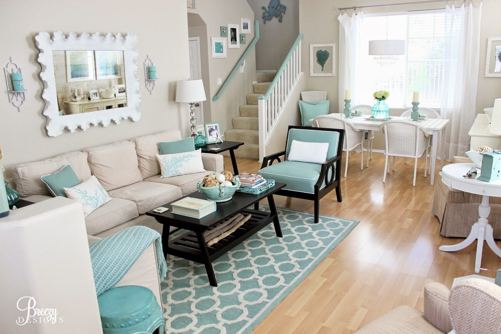 House of turquoise accessible beige by sherwin williams for all the walls in our living room and dining room i chose a seafoam color palette