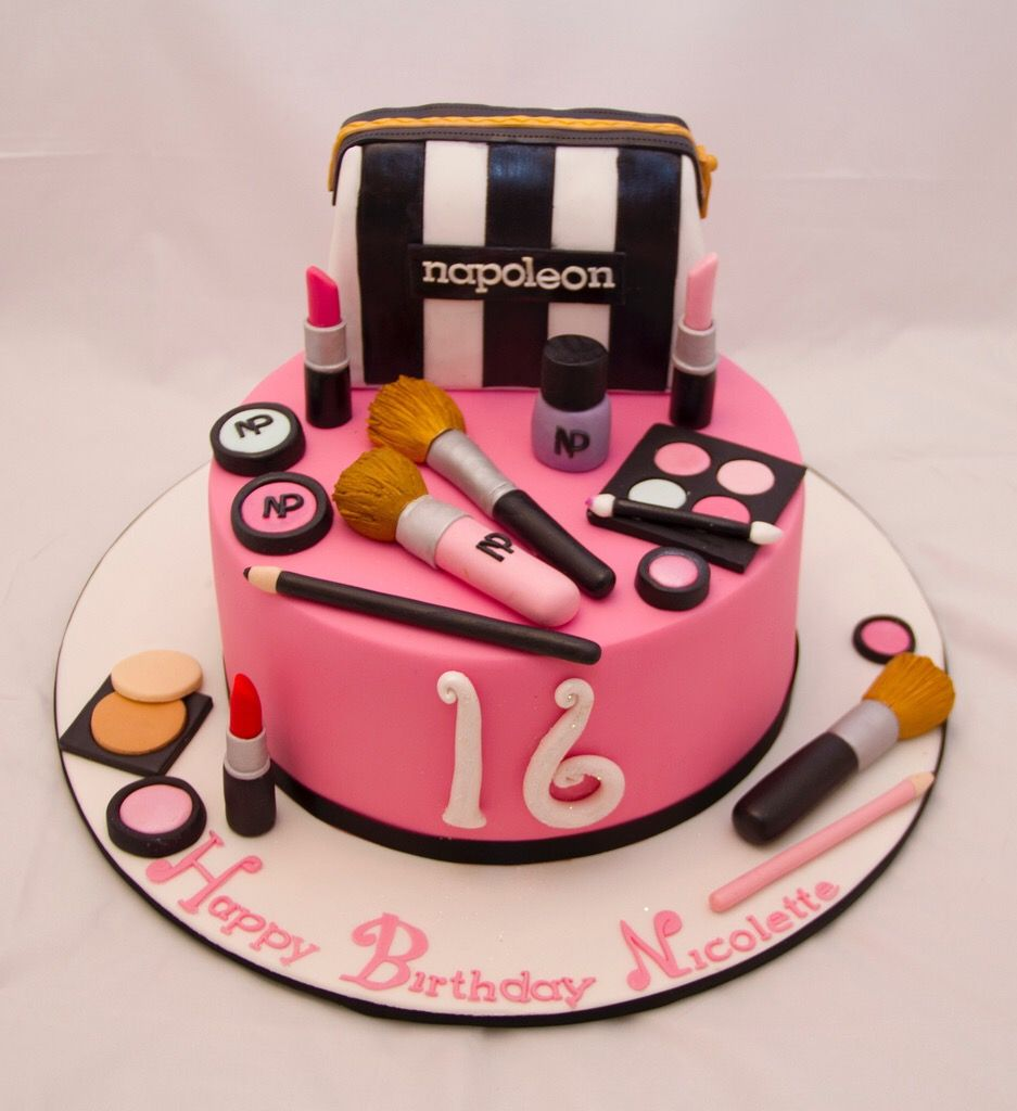 Pin By Silvana Yeri On Madison Sweet 16 Make Up Cake Buy Cake Girl Cakes