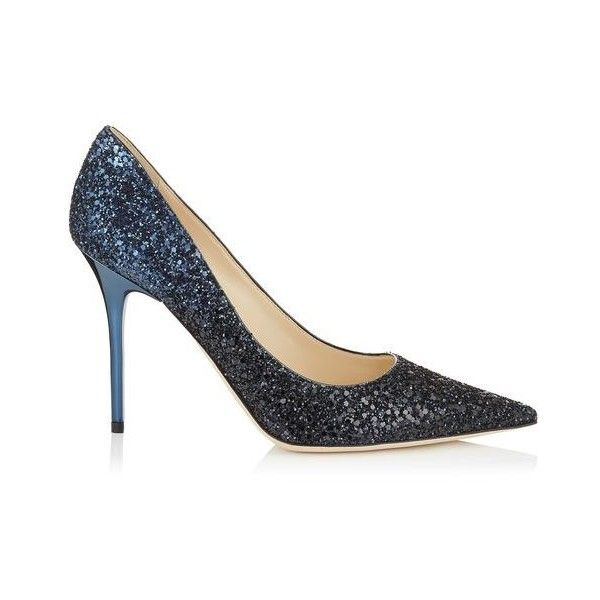 Black and Navy Coarse Glitter Degrade Fabric Pointy Toe Pumps ABEL (€540) ❤ liked on Polyvore featuring shoes, pumps, black pointed-toe pumps, navy pumps, black pumps, pointed-toe pumps and black pointy-toe pumps