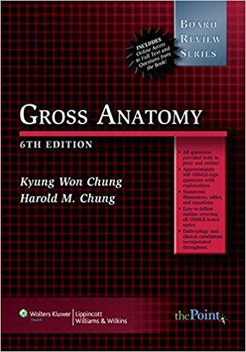 BRS Gross Anatomy (Board Review Series) #usmle #books #pdf ...