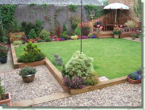 Using railway sleepers in the garden.   garden   Pinterest   Railway ...