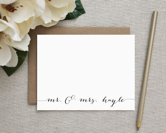 Wedding Thank You Notes Wedding Thank You Cards Personalized