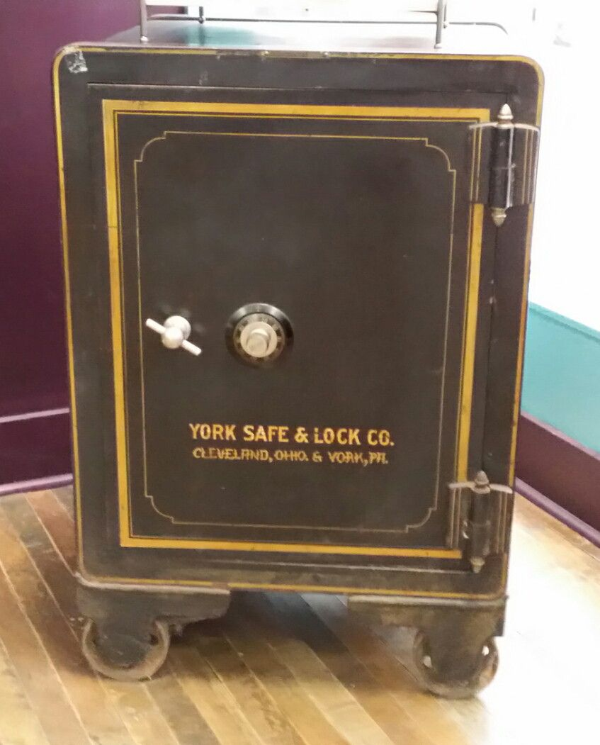 york safe. our safe -- a wonderful display piece that belonged to my grandfather. made in cleveland by the york \u0026 lock company, it\u0027s original condition. t