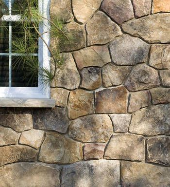 House front in stony point building stone