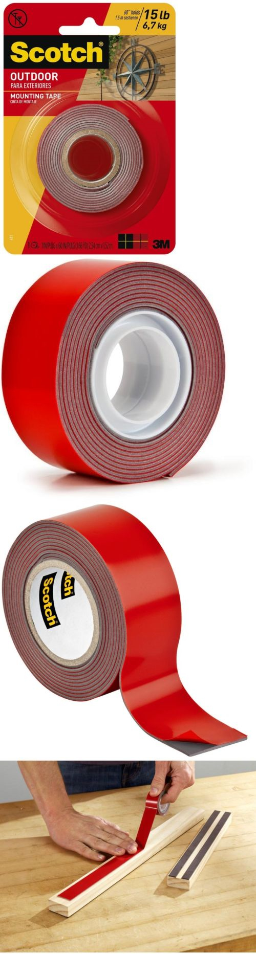 mounting tape 183123 3m permanent double sided indoor outdoor