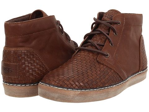 Mens Boots UGG Alin Woven Cognac Leather