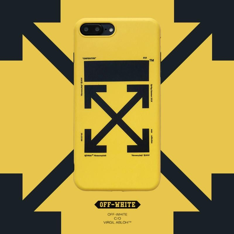 premium selection 66674 4de67 OW iphone case with lanyard hole shockproof yellow/black soft TPU ...