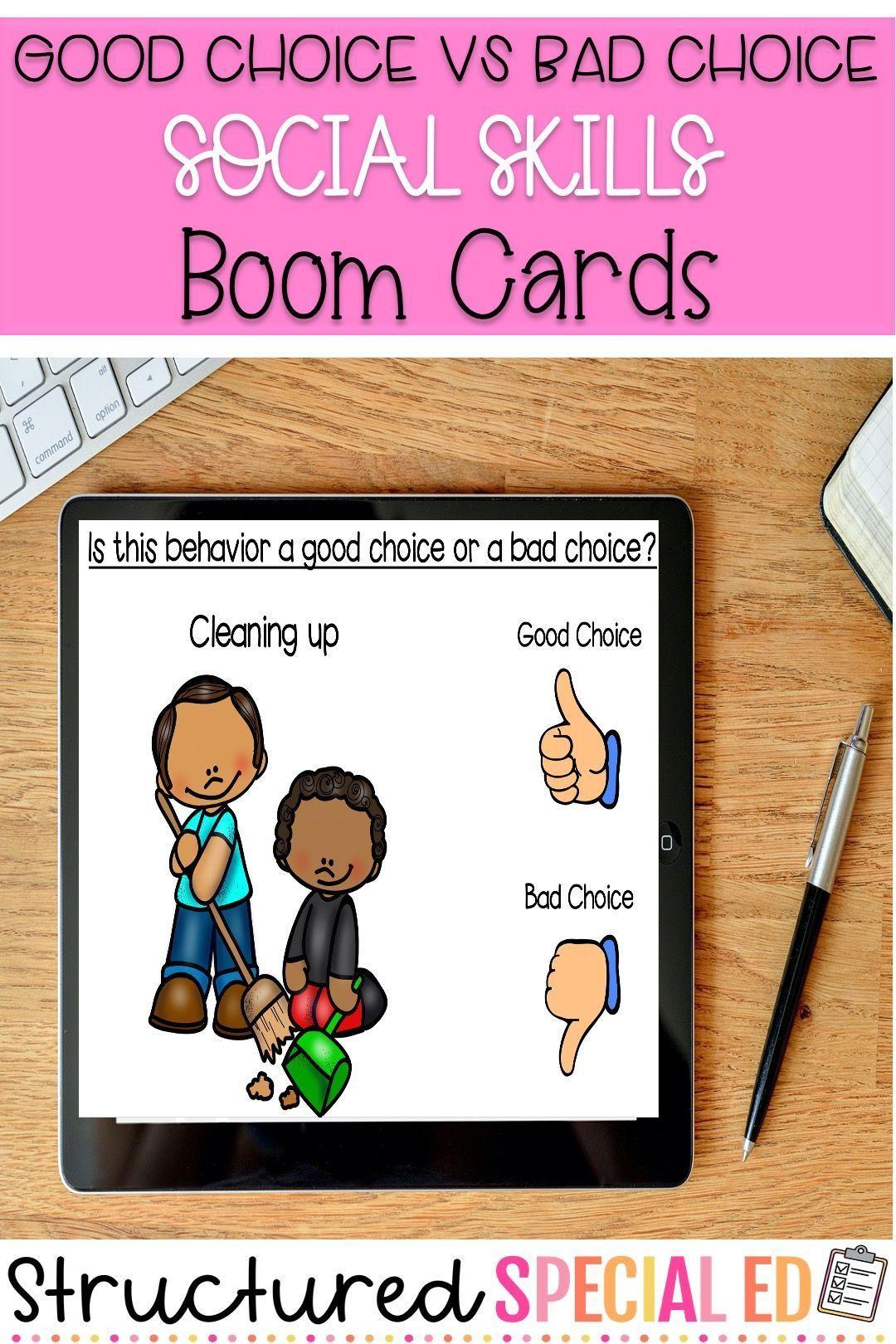 Social Skills Good Choice Vs Bad Choice Behaviors Boom