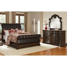 Pulaski Furniture Monticello All Wood Queen Sleigh Bed + Dresser + Mirror  From Value City