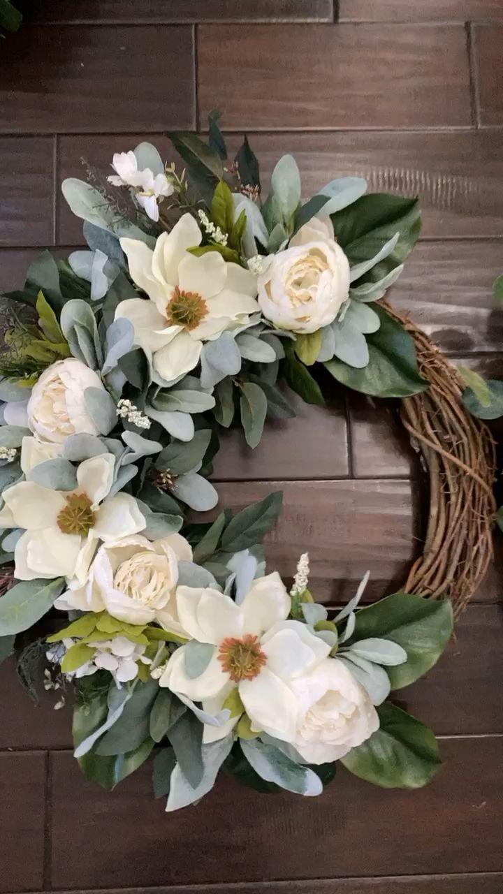 Photo of Peony magnolia wreath