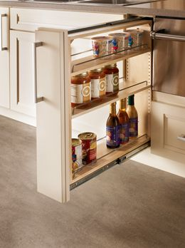 Base Filler Pull Out A Slim Cabinet That S Big On Storage