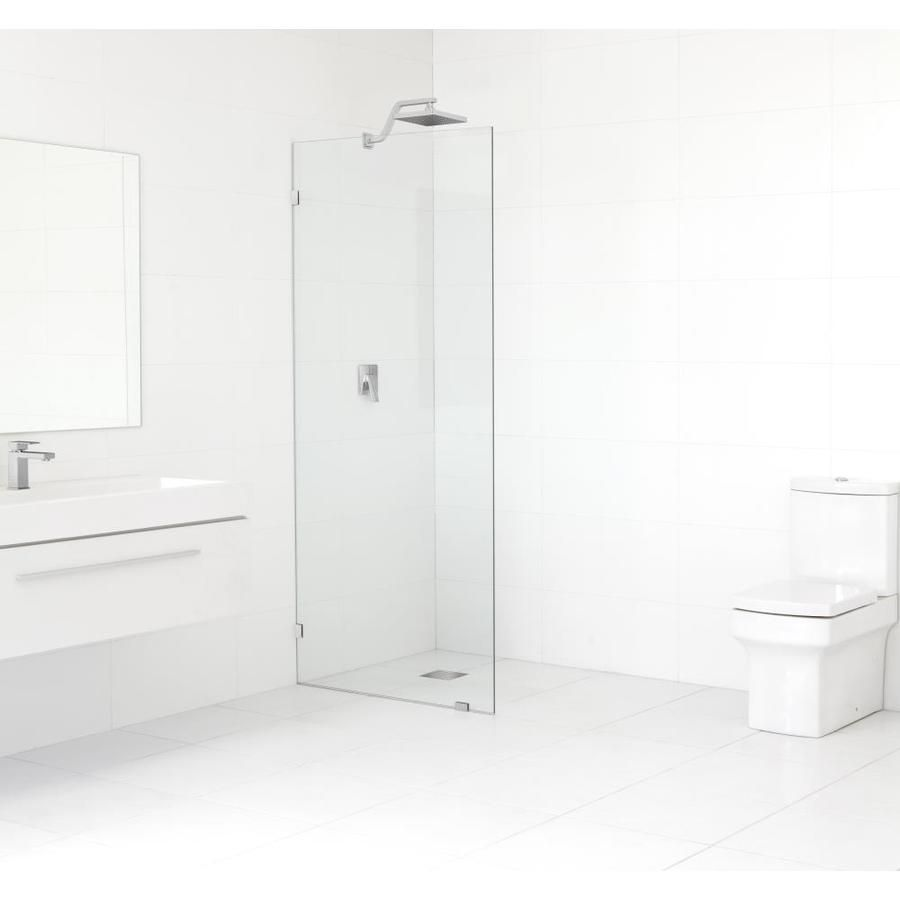 Glass Warehouse 78 In H X 33 5 In To 33 5 In W Frameless Fixed Chrome Shower Door Gw Sfp 33 5 Ch In 2020 Shower Doors Cleaning Shower Glass Glass Shower Panels