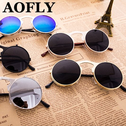7aebfabe31 glasses barware Picture - More Detailed Picture about VINTAGE STEAMPUNK  Sunglasses round Designer steam punk Metal