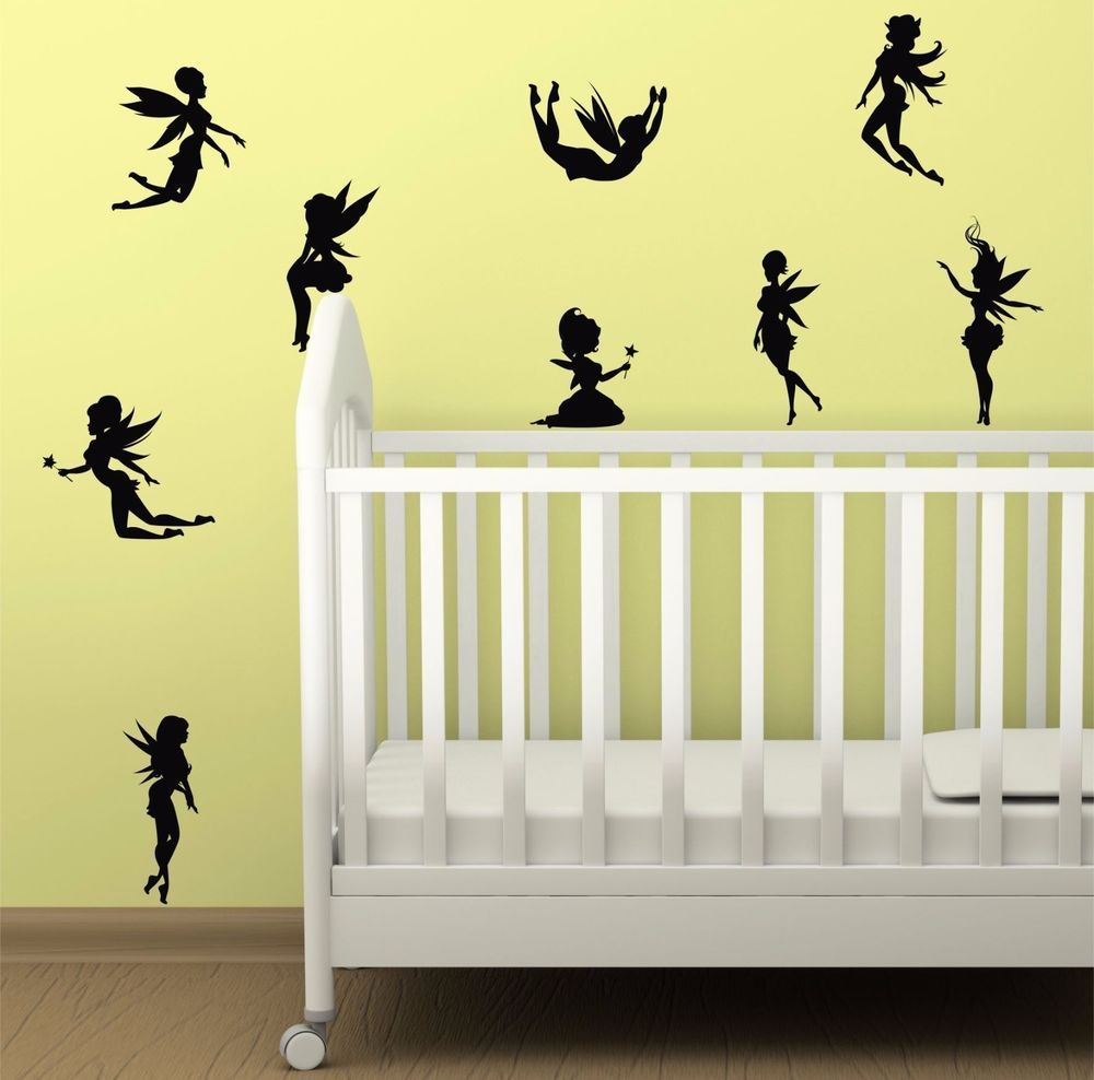 Fantasy Fairies - set of eight fairy silhouettes / Wall Art Vinyl ...