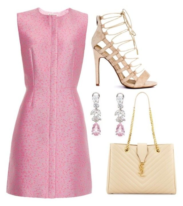 """""""Sans titre #776"""" by meryem-mess ❤ liked on Polyvore featuring Balenciaga, Yves Saint Laurent and Fantasia"""