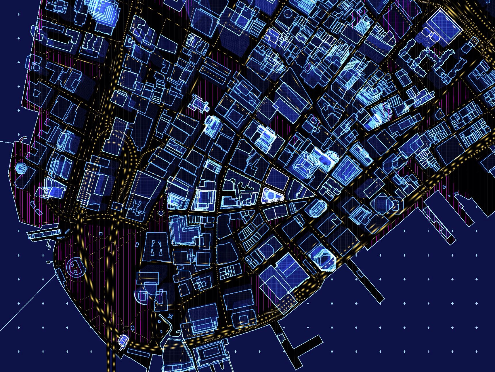 vector map amazing world map full of 3d extruded buildingsroads wanimated