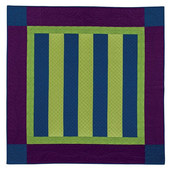 Modern Amish Bars quilt, in:  Urban and Amish by Myra Harder   Martingale