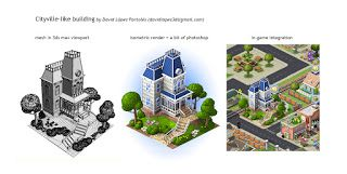 David Lopez Portoles Game Art: From 3D to isometric render