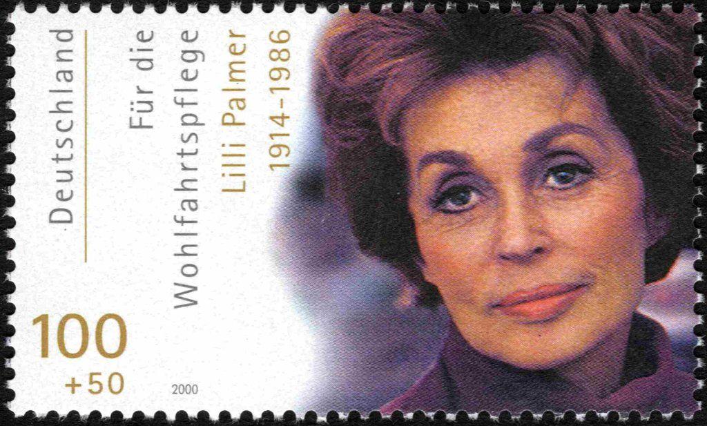 Stamp Lilli Palmer Germany Federal Republic Welfare