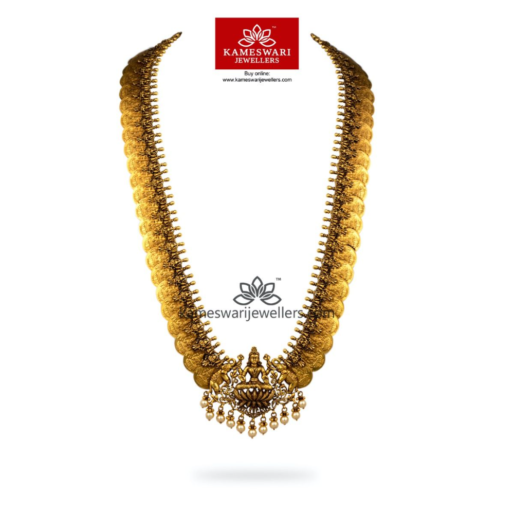 Photo of Buy Necklaces Online | Grand Gajalakshmi Kasumala from Kameswari Jewellers
