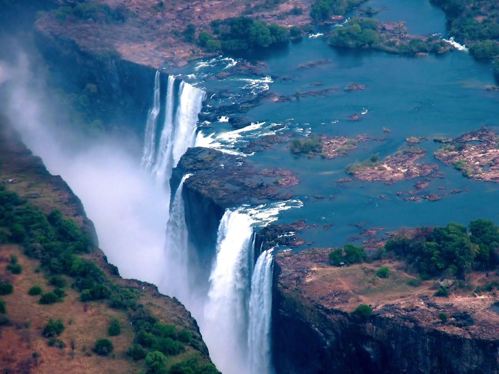 Victoria Falls Victoria Falls Zambia Wallpaper Hd Victoria