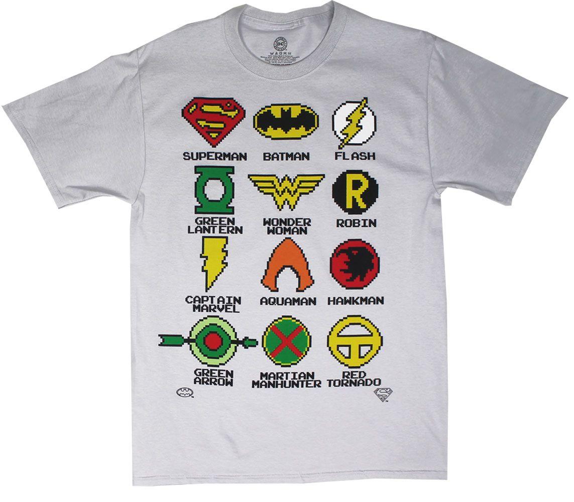 Pixelated Logos - DC Comics T-shirt | Products I Love | Pinterest
