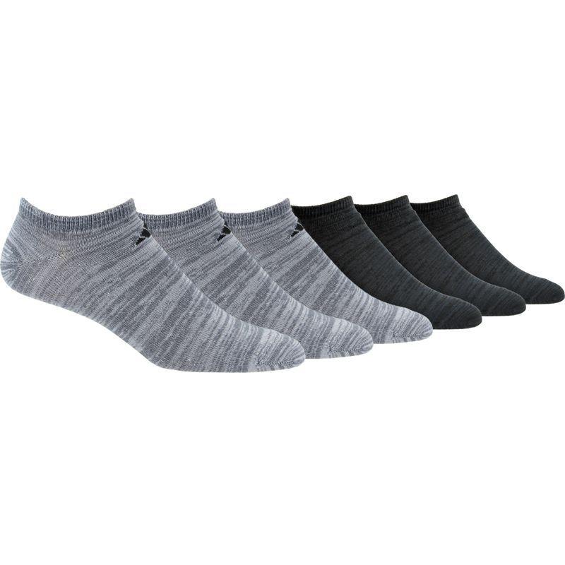 adidas Mens No Show Athletic Socks 6-pack