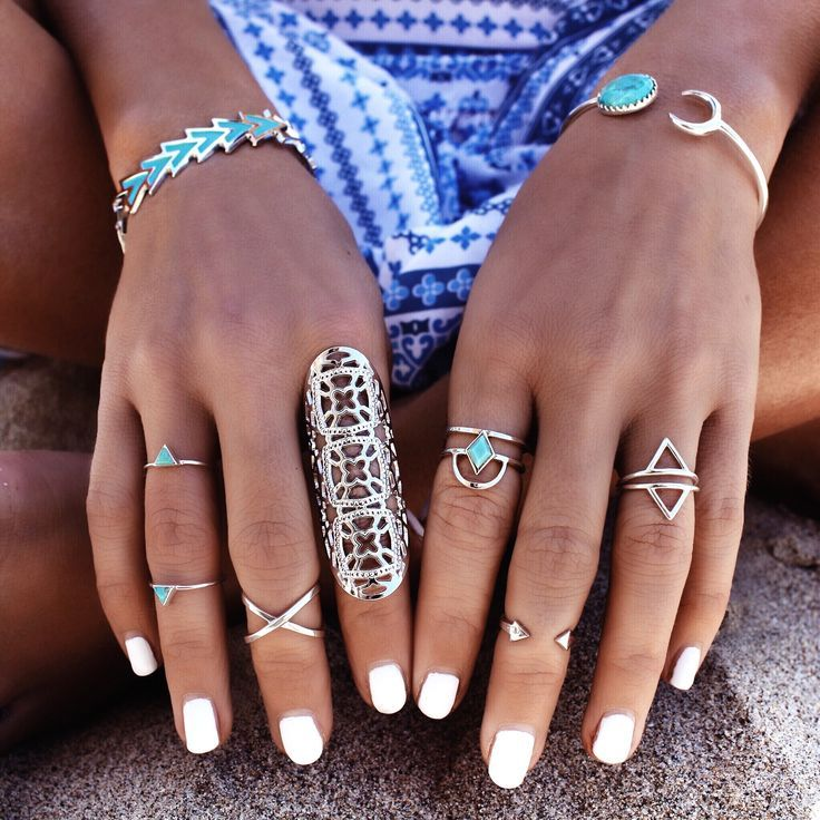 Boho jewelry Rings bracelet necklace earrings flash tattoos