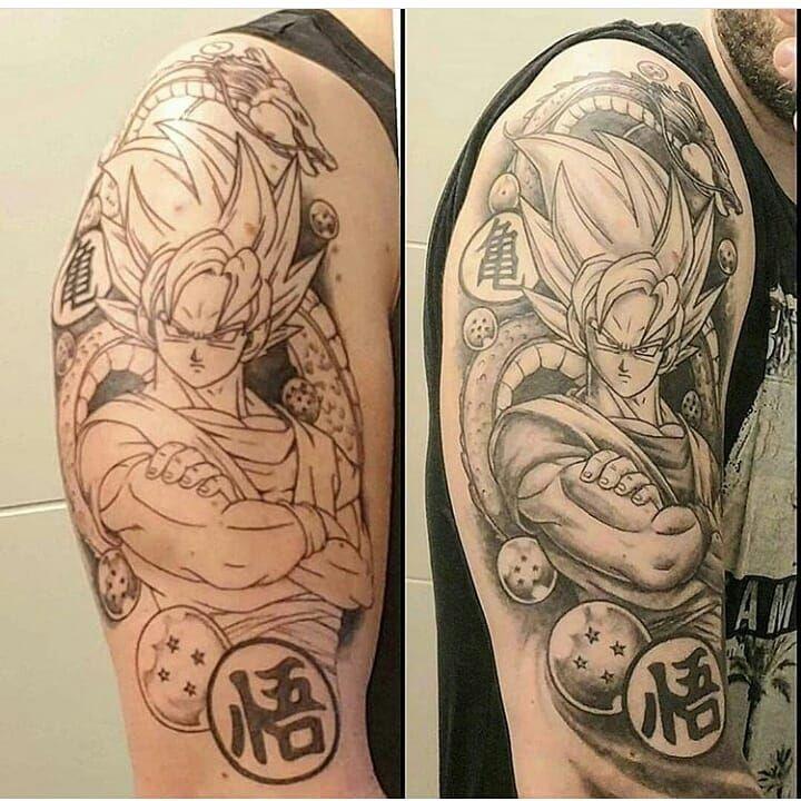 Goku shenlong tattoo artist credit