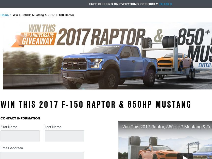 Enter the 2017 Raptor + 850 + HP Mustang Giveaway Sweepstakes for a chance to win a 2017 Ford Raptor a 2015 Ford Mustang GT a car Trailer and a selection ...  sc 1 st  Pinterest & Enter the 2017 Raptor + 850 + HP Mustang Giveaway Sweepstakes for ... markmcfarlin.com