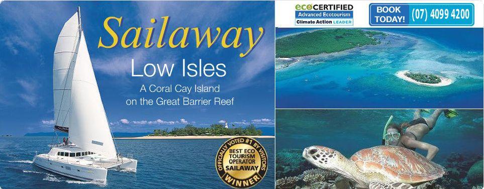 Sailaway Low Isles Sail Snorkel Great Bearrier Reef from Port Douglas
