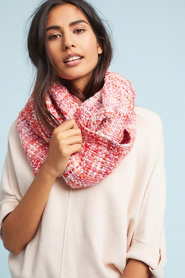 Plaid Shimmer Infinity Scarf