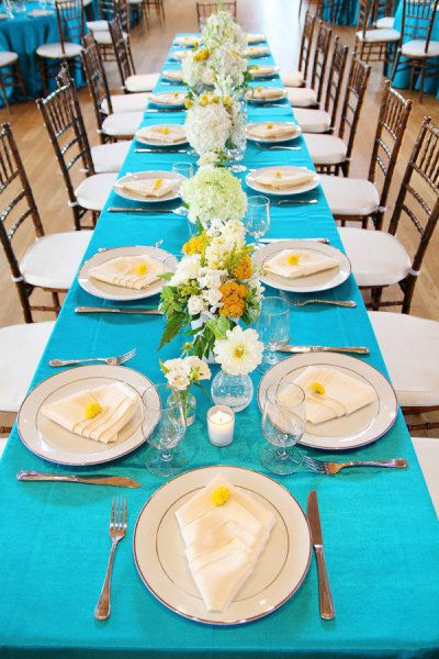Turquoise and Yellow Theme