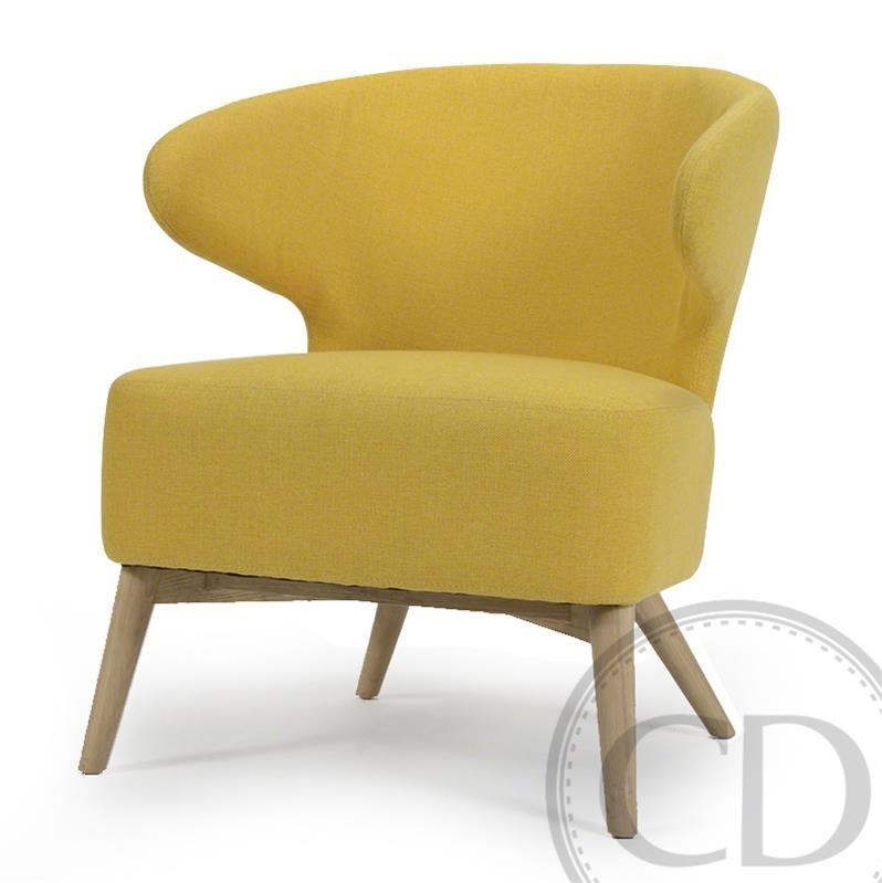 Fauteuil crapaud jaune - Rock Fauteuil crapaud en tissu de couleur jaune  safari. Il s e94b8cb23b70