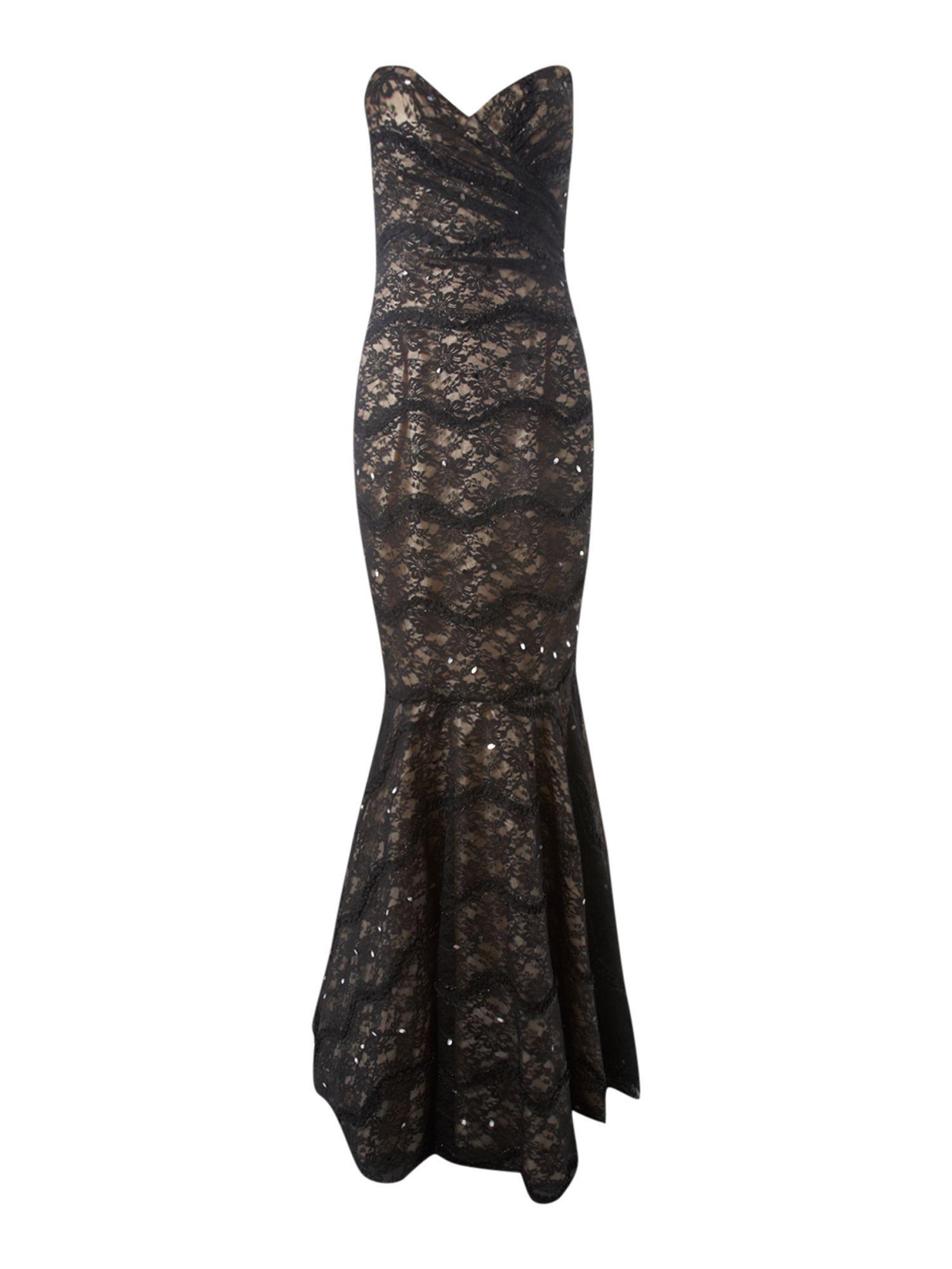 ace velvet fishtail dress | Tail dress