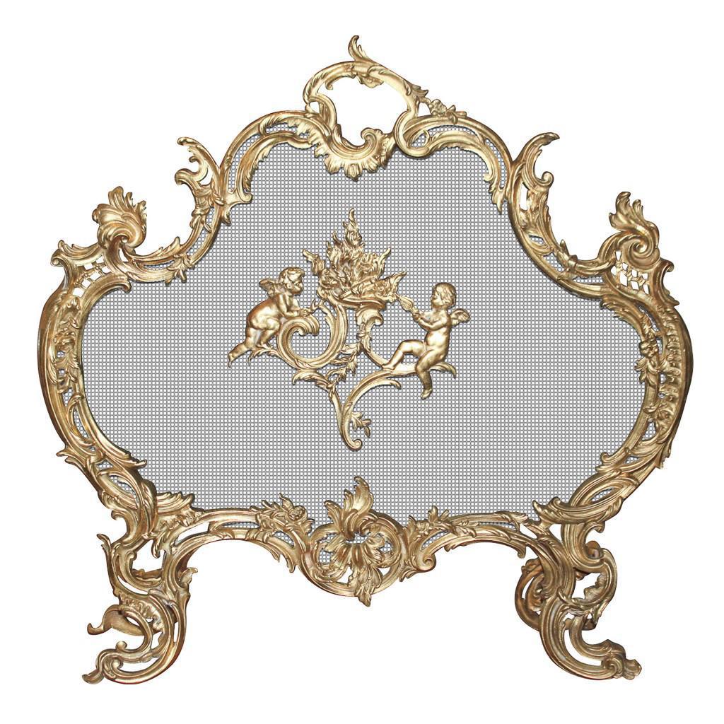 French Gilt Bronze Fire Screen on DECASO.com | Antique ...