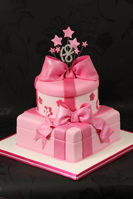 Pink Parcel Cake 18th Birthday Cake