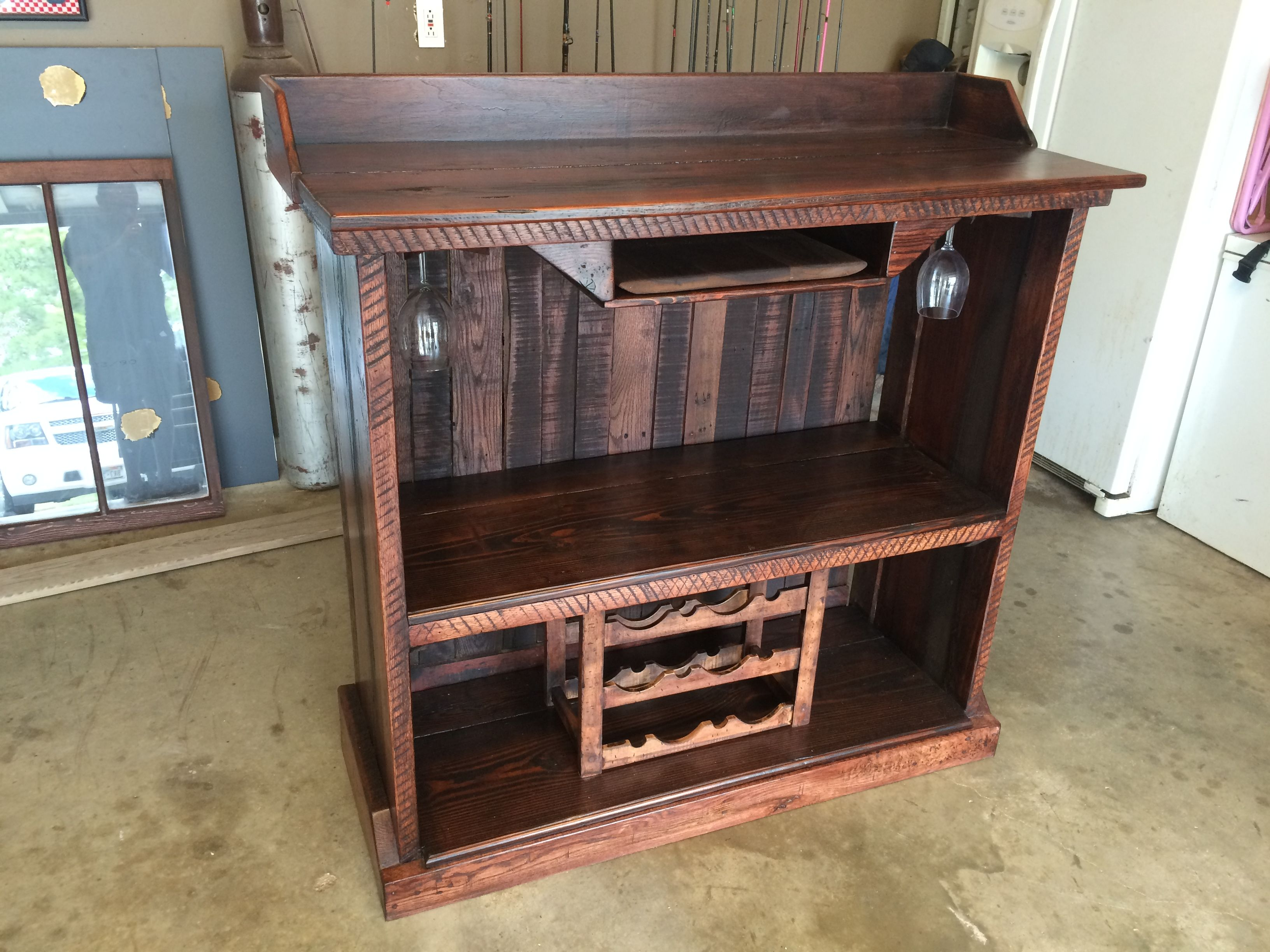 Reclaimed pallet wood and wood from 1850's home. The wood ...