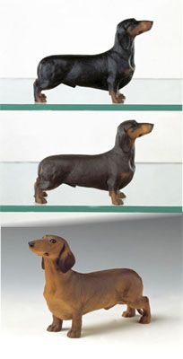 Dachshund Standard Smooth Haired Dog Figurines Dachshund Dogs