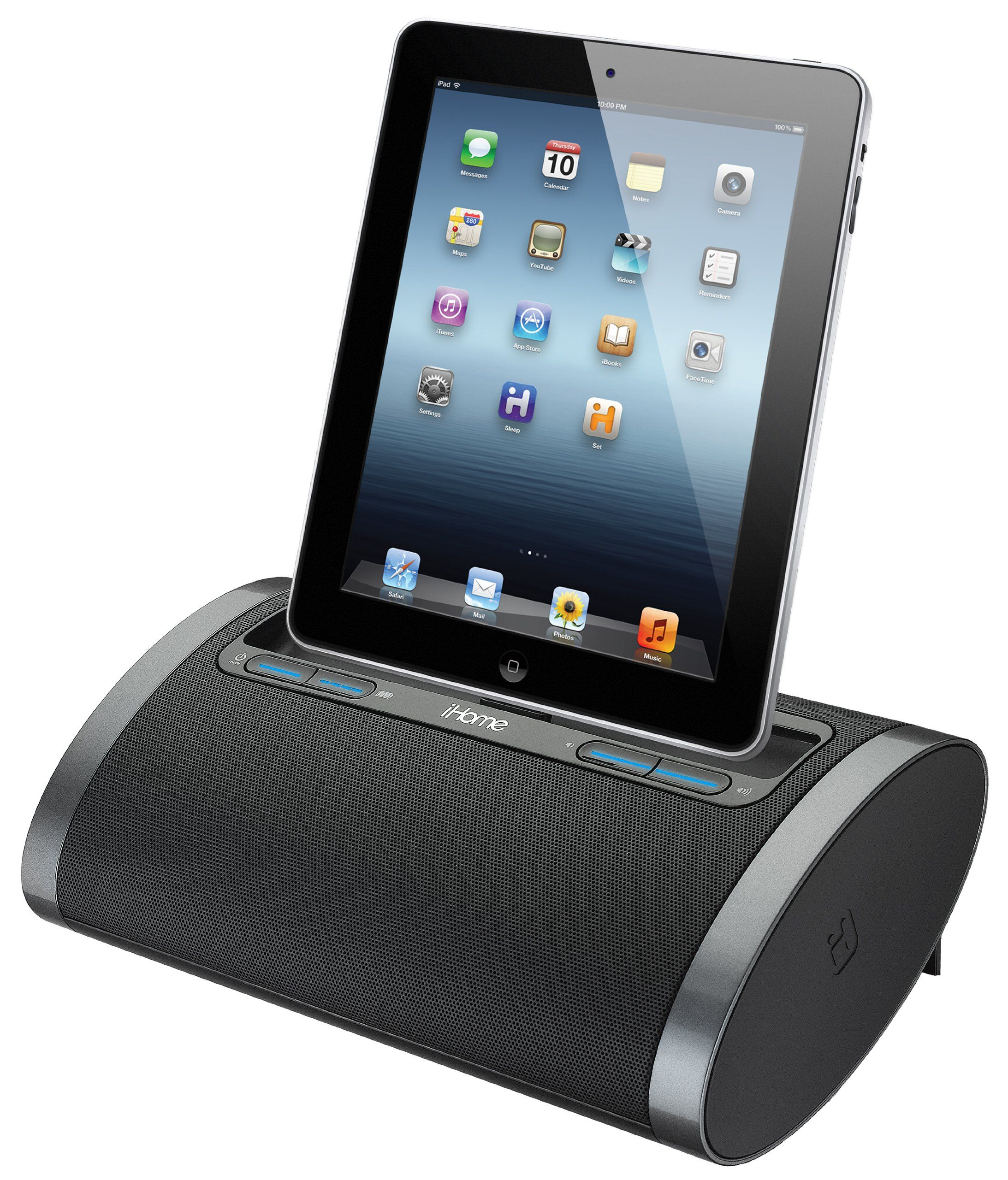 Ihome idl48bc dual charging portable rechargeable speaker with ihome dual charging portable rechargeable speaker with lightning dock and usb chargeplay for ipad ipod and iphone and publicscrutiny Images
