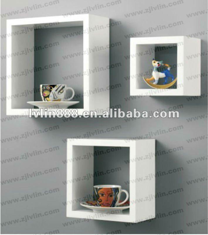 Artesanato Love ~ Montado Na Parede Prateleira cuba armário De Parede Estantes Cubo decorativa Prateleira Parede